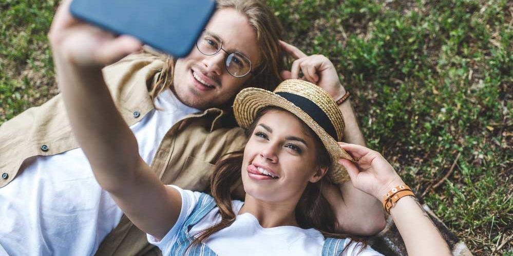 Legenda para foto de casal